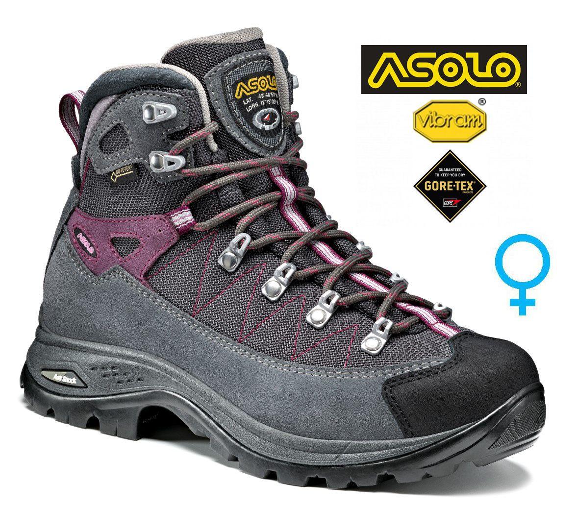 Tazz-Sport - Asolo Finder GV ML grey / gunmetal / grapeade dámská treková bota