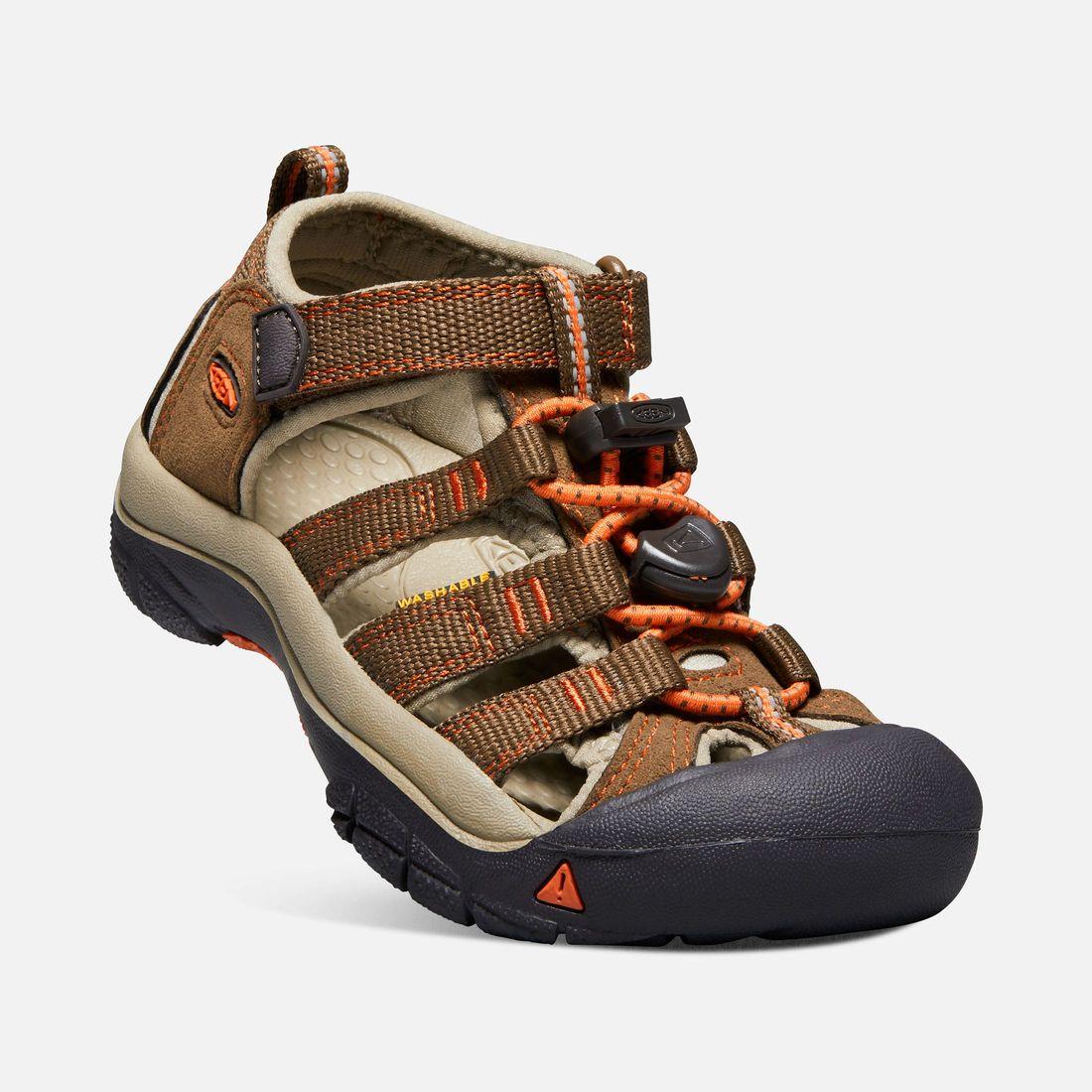 Tazz-Sport - KEEN Newport H2 Junior Dark Earth / Spicy Orange ORANGE Dětský sandál