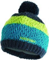 Hannah Bobble JR Tile blue / lime green