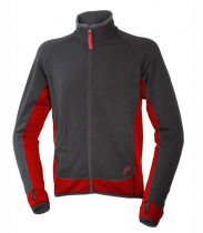 Warmpeace Trevor grey / molten red Polartec Powerstretch