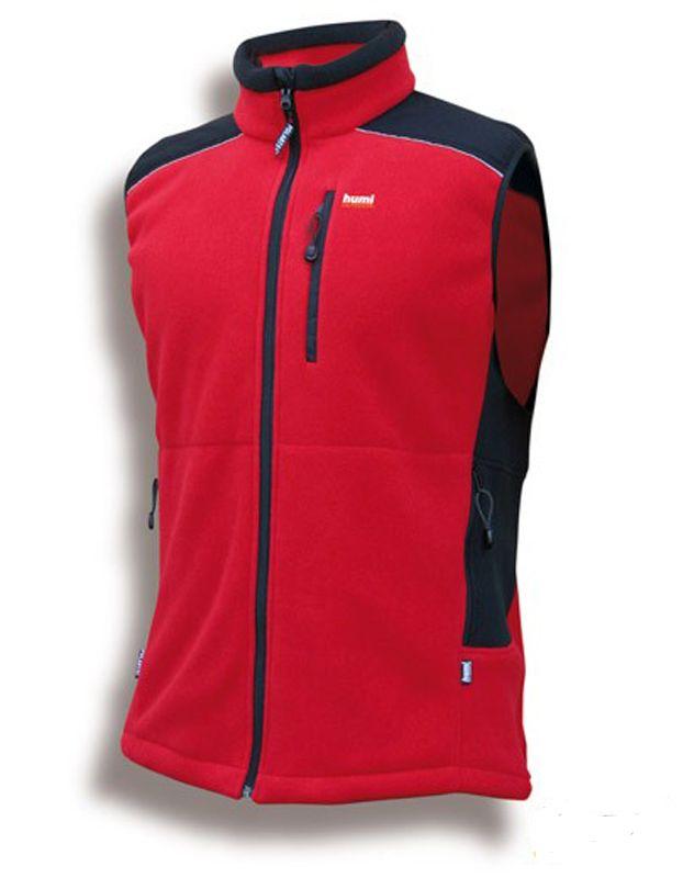 Tazz-Sport - HUMI Castor červená / černá vesta Polartec 200