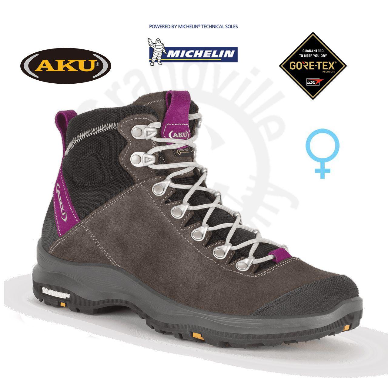Tazz-Sport - AKU La Val Lite GTX Ws Grey / Magenta dámská pohora