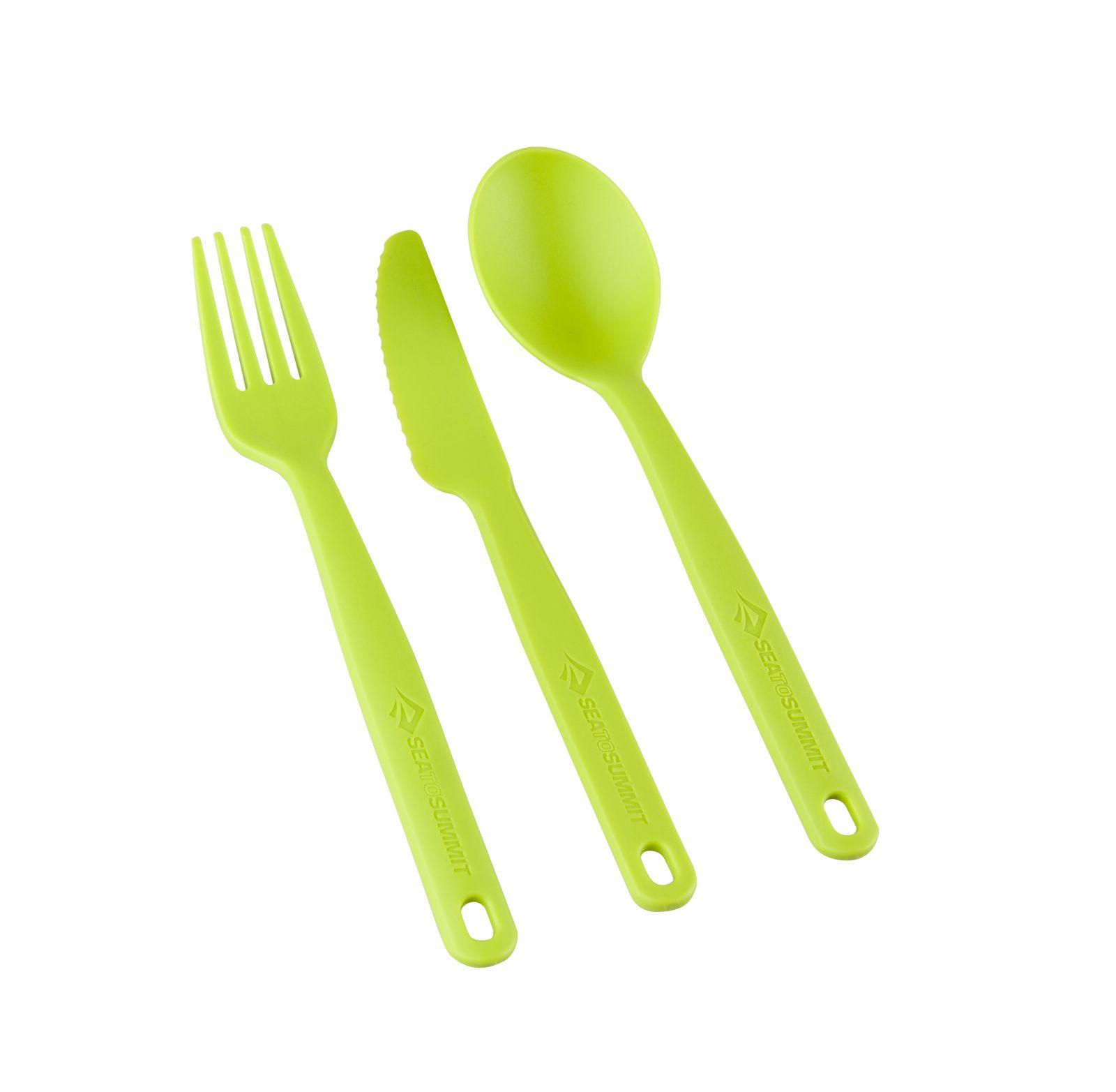 Tazz-Sport - SSea To Summit Camp Cutlery Set lime příbor set na karabině
