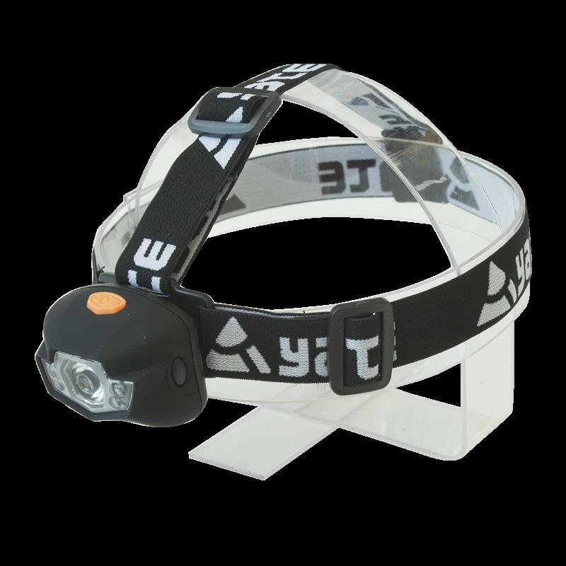 Tazz-Sport - Yate 3W CREE+2 LED černá čelová svítilna
