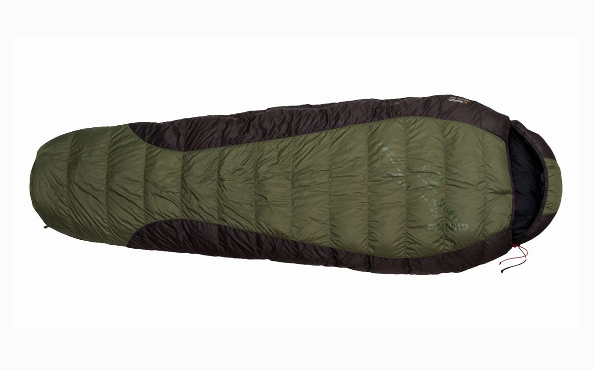 Tazz-Sport - Péřový spacák Warmpeace Viking 600 olive / grey / black