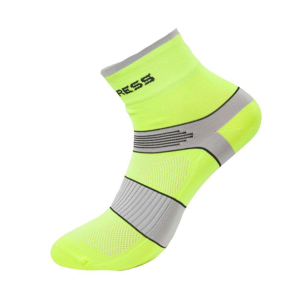 Tazz-Sport - Progress Cycling cyklistické ponožky reflexní žlutá/šedá