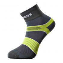 Progress Cycling cyklistické ponožky šedá/zelená | 35-38, 39-42, 43-47