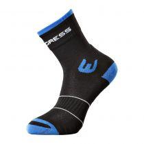 Progress WALKING letní turistické ponožky černá/modrá | 35-38, 39-42, 43-47