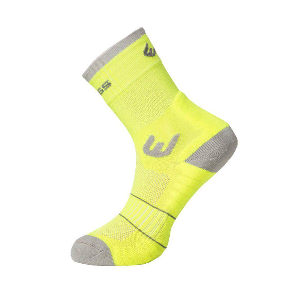 Tazz-Sport - Progress WALKING letní turistické ponožky reflexní žlutá/šedá