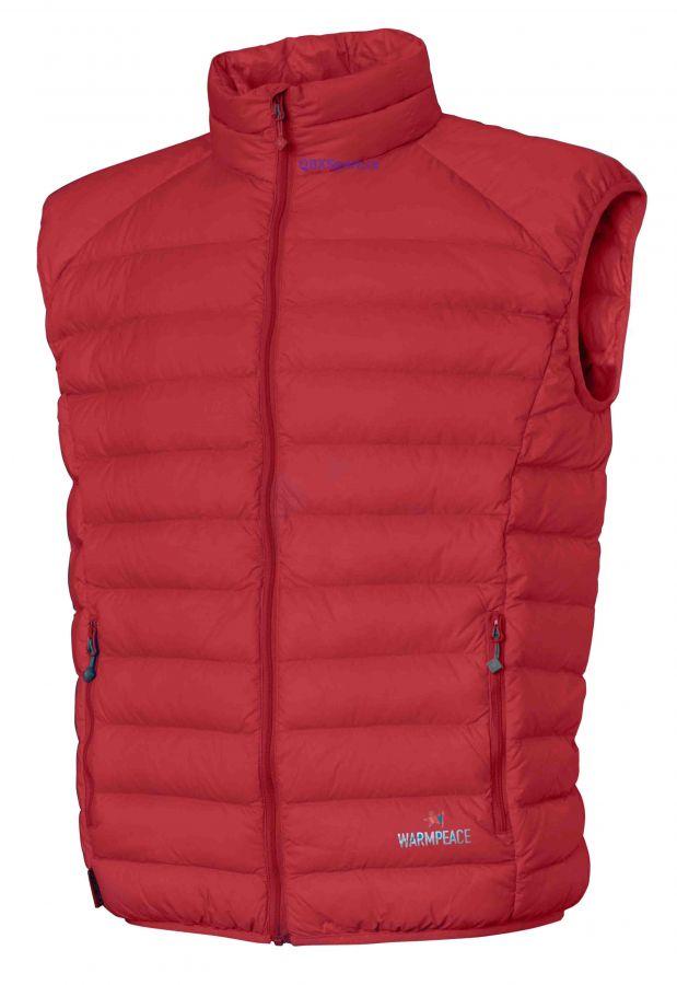 Tazz-Sport - Péřová vesta Warmpeace Drake red