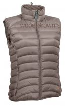Warmpeace Swan lady vest wood brown