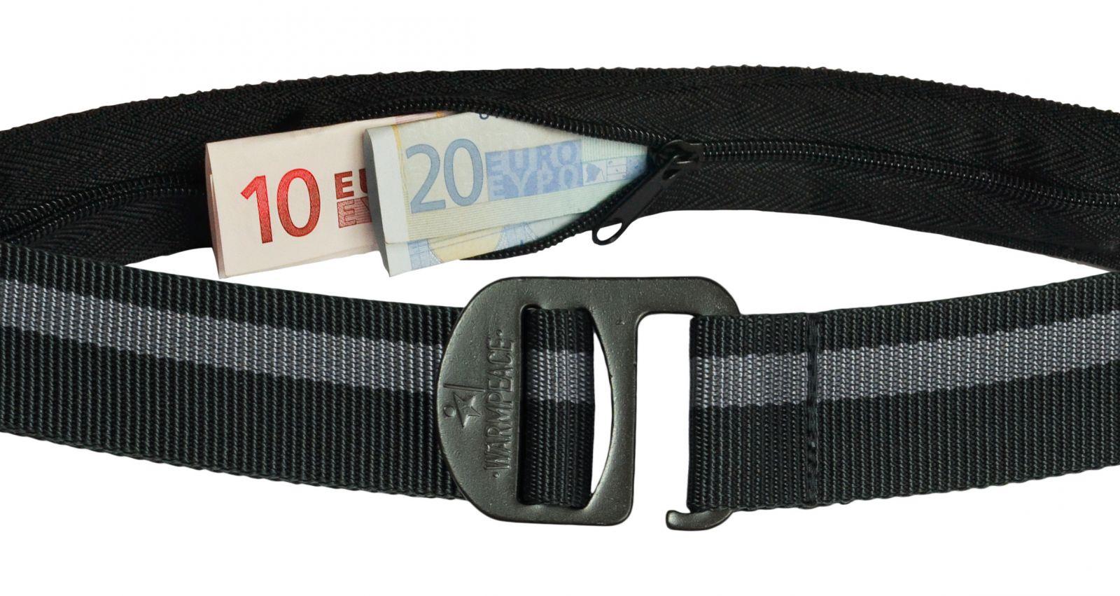 Tazz-Sport - Warmpeace Money Belt iron / grey opasek na bankovky